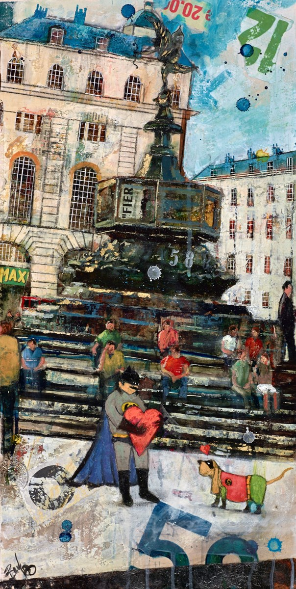 Piccadilly by richard burel -  sized 12x23 inches. Available from Whitewall Galleries